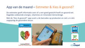 AppvdMaand - Eetmeter en Kies ik gezond